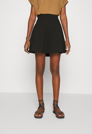 HIGH WAIST SKATER - A-line skirt - black
