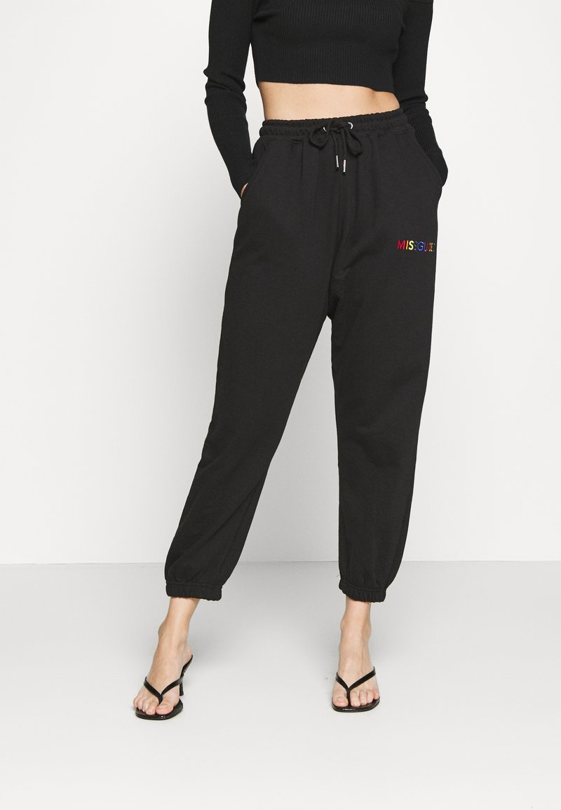 Missguided Petite - PRIDE JOGGERS - Tracksuit bottoms - black