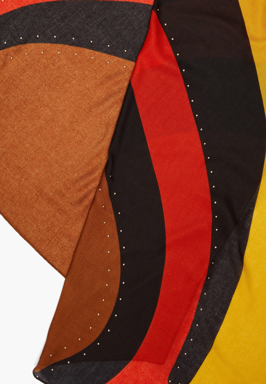 S.oliver Mit Nieten-detail - Schal Brown Placed Print/braun