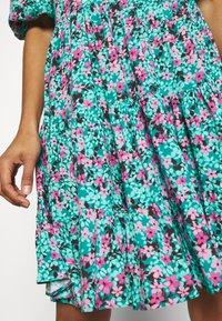 Closet - GATHERED TIERED DRESS - Day dress - turquoise - 5