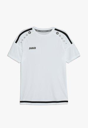 TRIKOT STRIKER - Triko spotiskem - weiß/schwarz