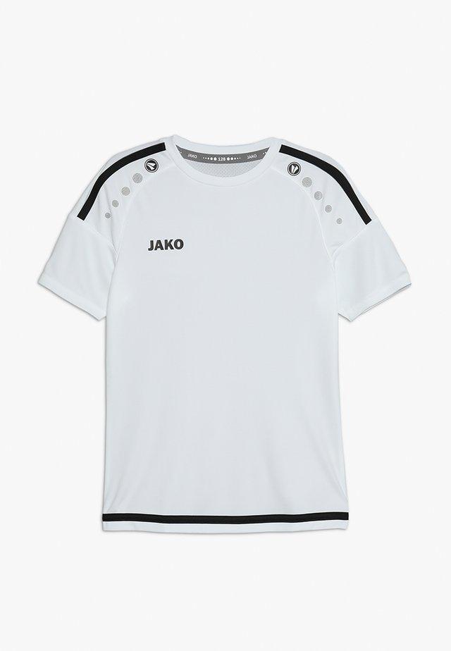 TRIKOT STRIKER - Print T-shirt - weiß/schwarz