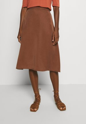 DIBISA - A-line skirt - chocolate glaze