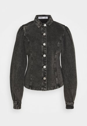 LADIES - Button-down blouse - black acid wash