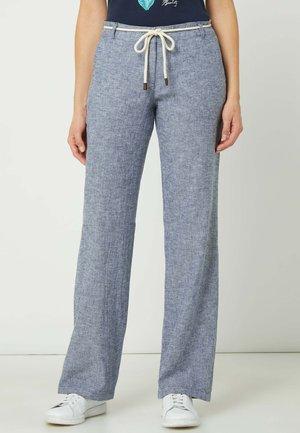 Trousers - marineblau meliert