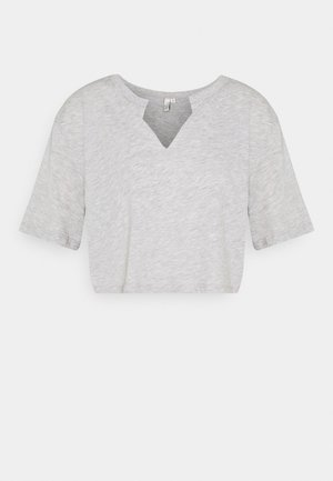 BASIC V CUT TEE - T-shirts med print - grey melange