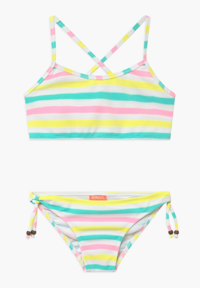GIRLS MULTI STRIPE CROSS BACK - Bikinit - multi-coloured