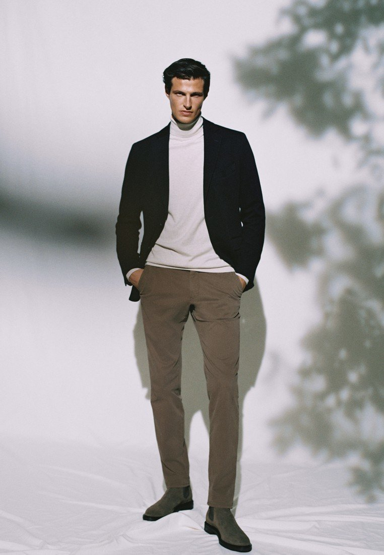 Massimo Dutti - SLIM FIT - Chinos - brown