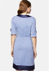 HotSquash - 60S DRESS WITH CONTRAST HEM - Day dress - woodblue and navy silky - 2