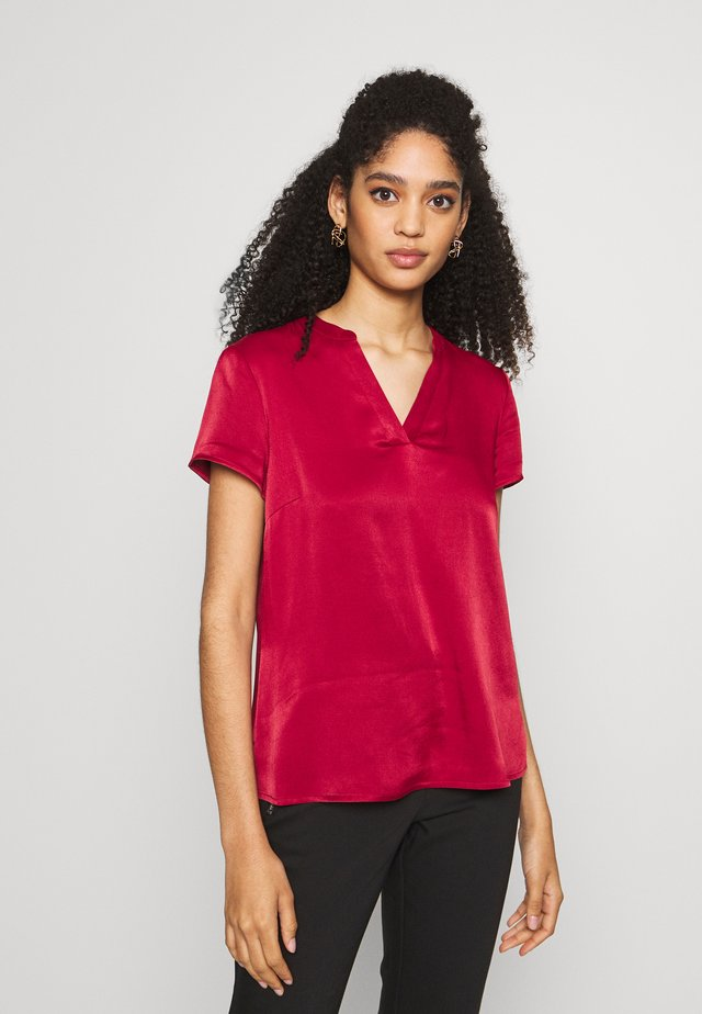 BLOUSE SHORTSLEEVE - Blouse - scarlet red