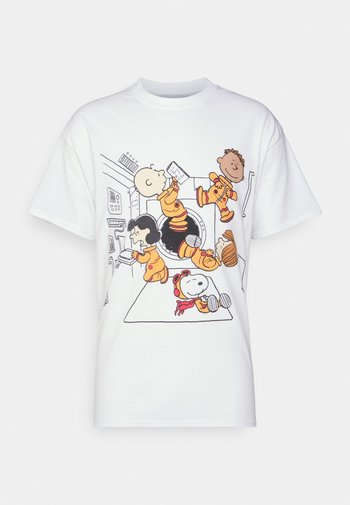PEANUTS IN SPACE TEE - Print T-shirt - white