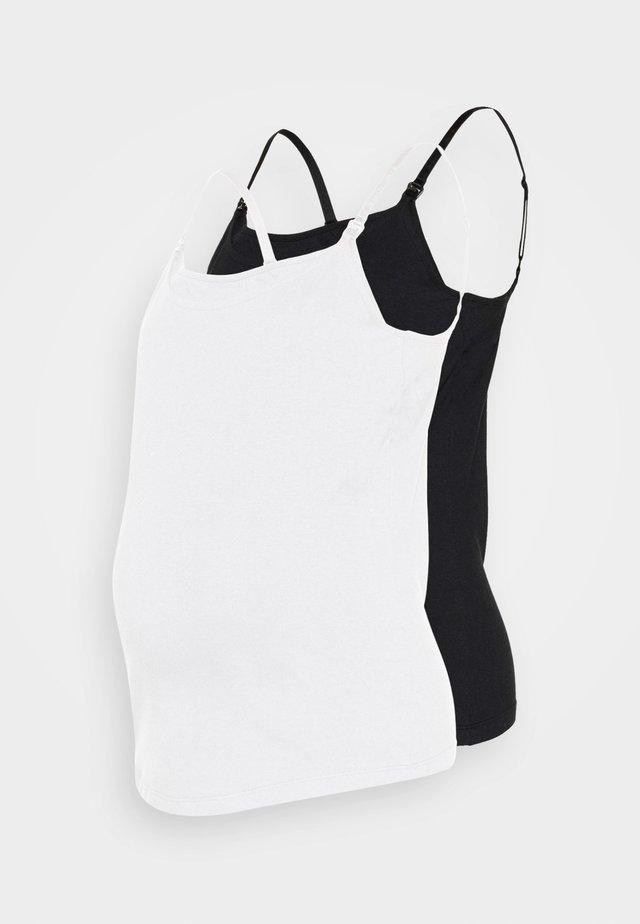 2PACK NURSING FUNCTION cami - Linne - black/white