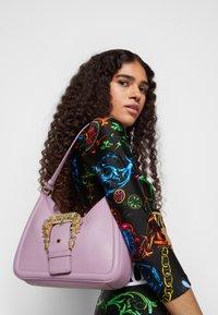 Versace Jeans Couture - BUCKLE SHOULDER BAG - Handbag - lavander - 0
