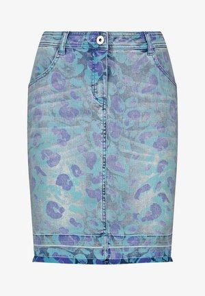 Denim skirt - blue denim gemustert