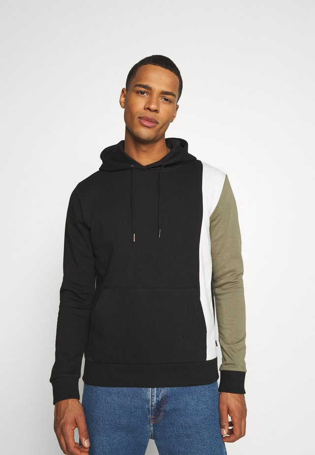 VERTICAL PANEL OVERHEAD HOOD - Sweatshirt - black
