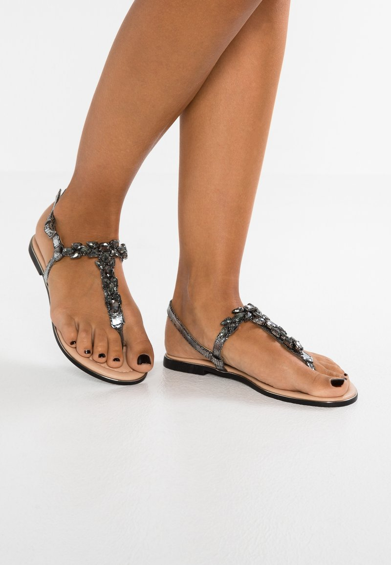 Anna Field - T-bar sandals - dark gray