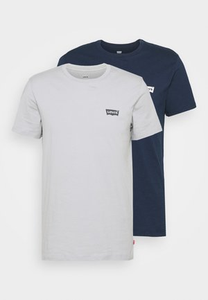 CREWNECK GRAPHIC 2 PACK - Apdrukāts T-krekls - dress blues