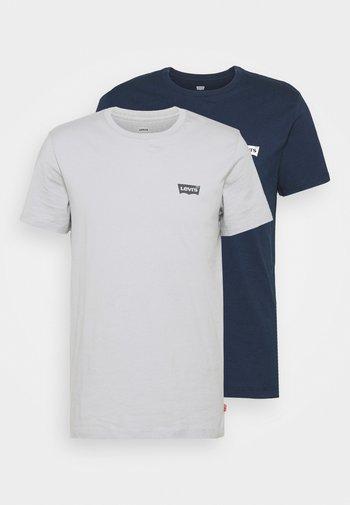 CREWNECK GRAPHIC 2 PACK - T-shirts med print - dress blues