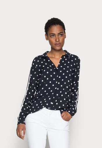 DOTTED BLOUSE - Blouse - marine