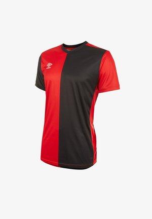 FUSSBALL - TEAMSPORT TEXTIL - TRIKOTS 50/50 TRIKOT KURZARM - Print T-shirt - rotschwarz