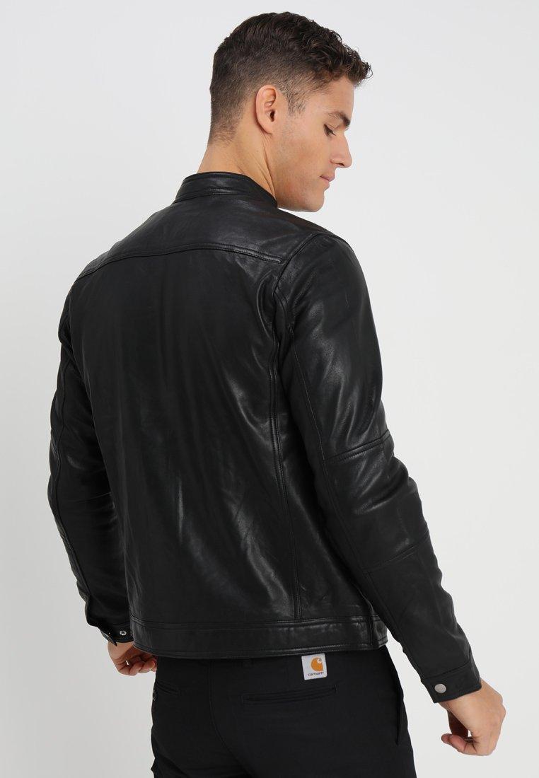 Matinique TRENTO - Veste en cuir - black