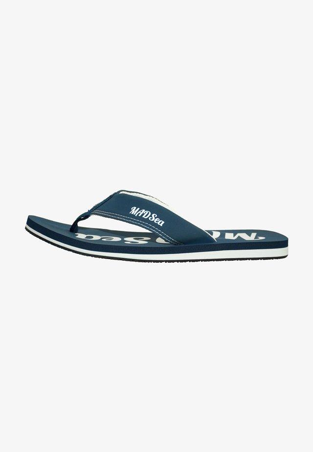 T-bar sandals - dunkelblau/weiß