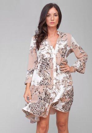 Vestido camisero - beige/white