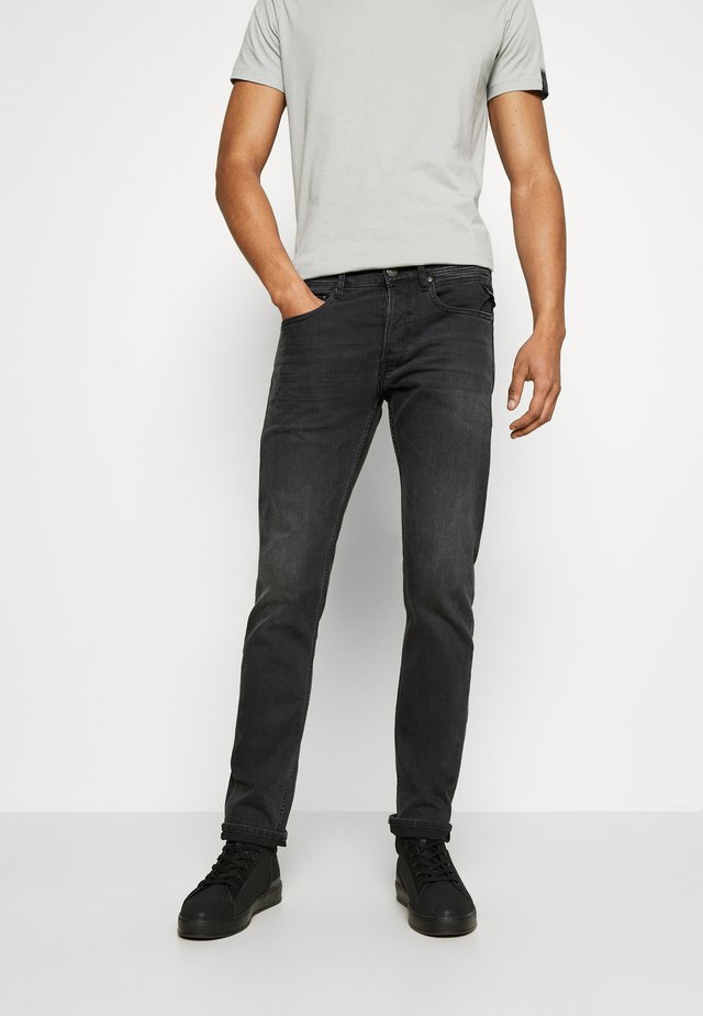 GROVER - Straight leg jeans - dark grey