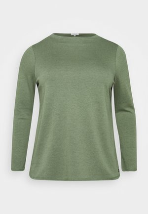 DOUBLE FACE TURTLE - T-shirt à manches longues - greyish/green melange