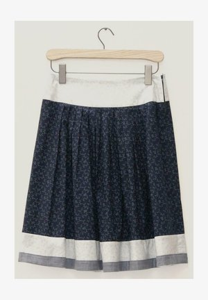 BREGENZ-1-U - A-line skirt - dark blue, light grey