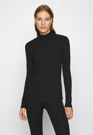 ALLISON  TURTLENECK - Long sleeved top - pitch black