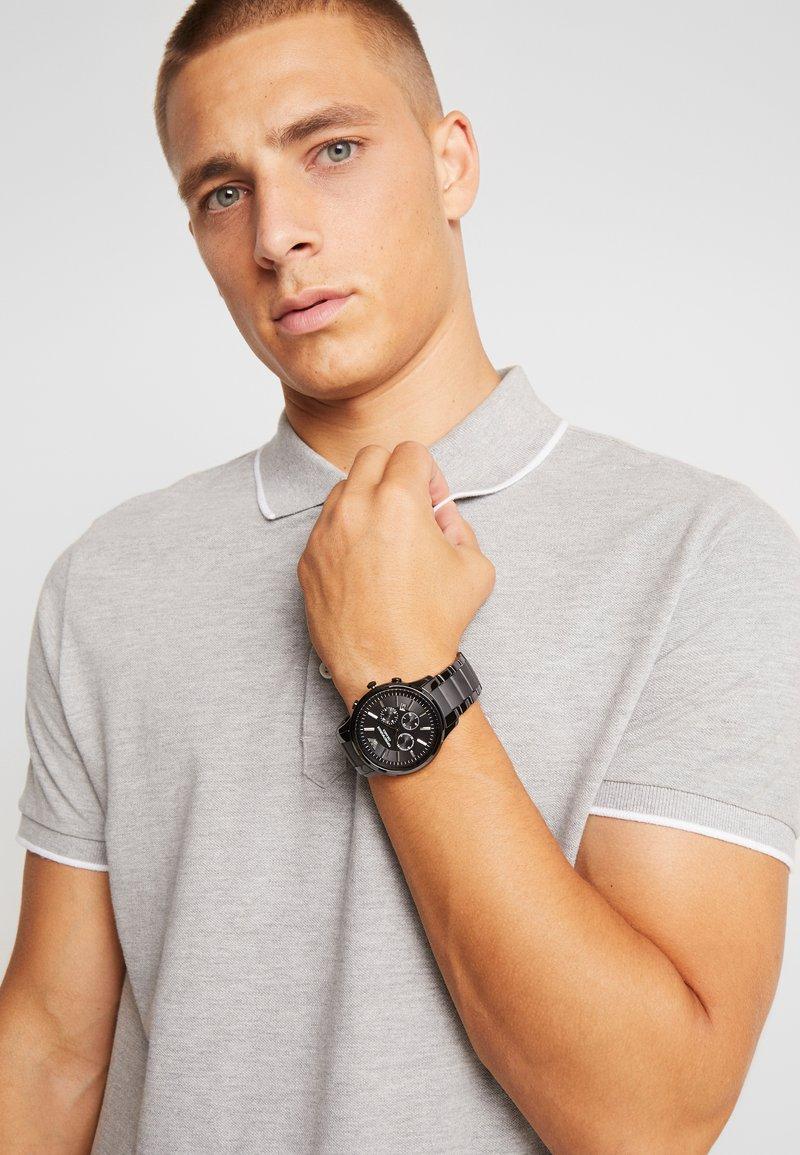 Emporio Armani - RENATO - Chronograph watch - schwarz