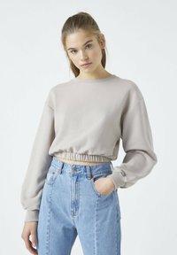 PULL&BEAR - Sweatshirt - mottled beige - 0
