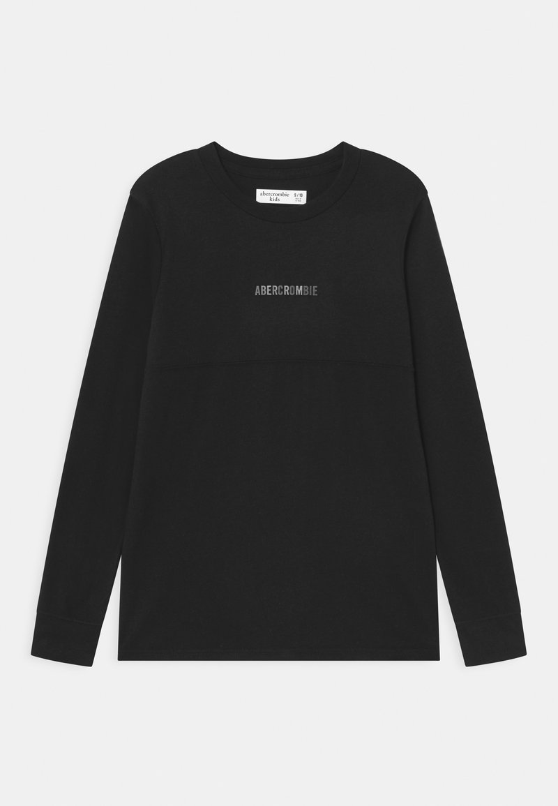Abercrombie & Fitch - NOVELTY - Long sleeved top - black solid