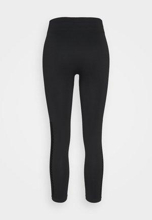 MID RISE DETAIL LEGGINGS - Collant - black