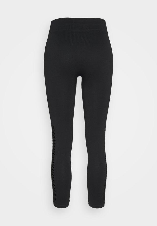 MID RISE DETAIL LEGGINGS - Leggings - black