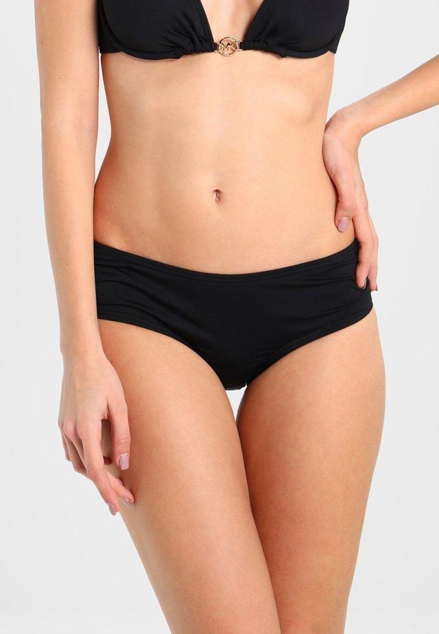 SHIRRED BOTTOM - Bikini bottoms - black