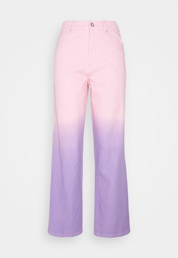 LYNNIE - Straight leg jeans - lilac pink ombre