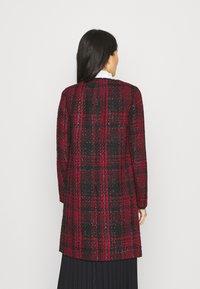 Wallis - CHECK COLLARLESS COAT - Blazer - red - 2