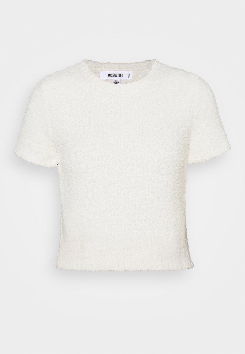 Missguided Maternity - POPCORN - Basic T-shirt - cream