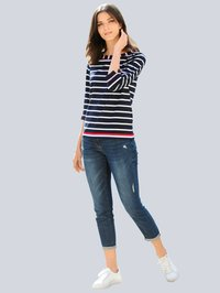 Alba Moda - Long sleeved top - marineblau,weiß,rot - 0