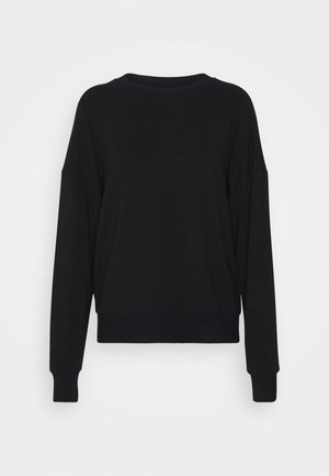 CREW NECK LONG SLEEVE - Sweatshirt - black