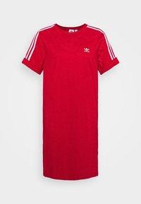 adidas Originals - TEE DRESS - Jersey dress - scarlet - 5
