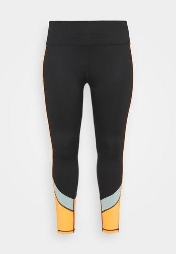 ONPDANDO - Legging - black/gray mist/sunset orange