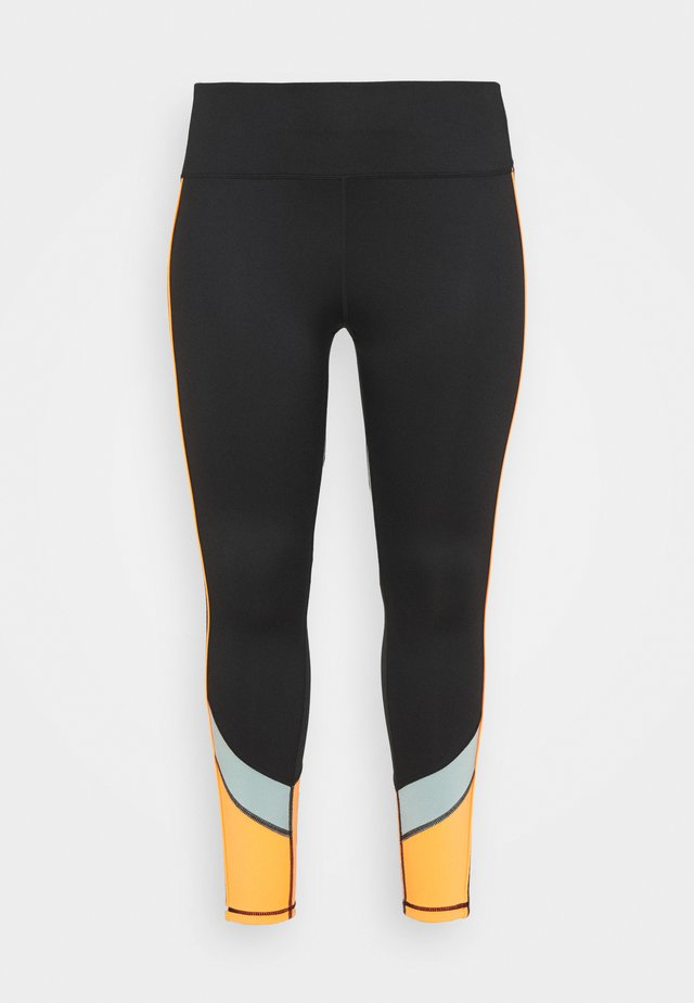 ONPDANDO - Collants - black/gray mist/sunset orange
