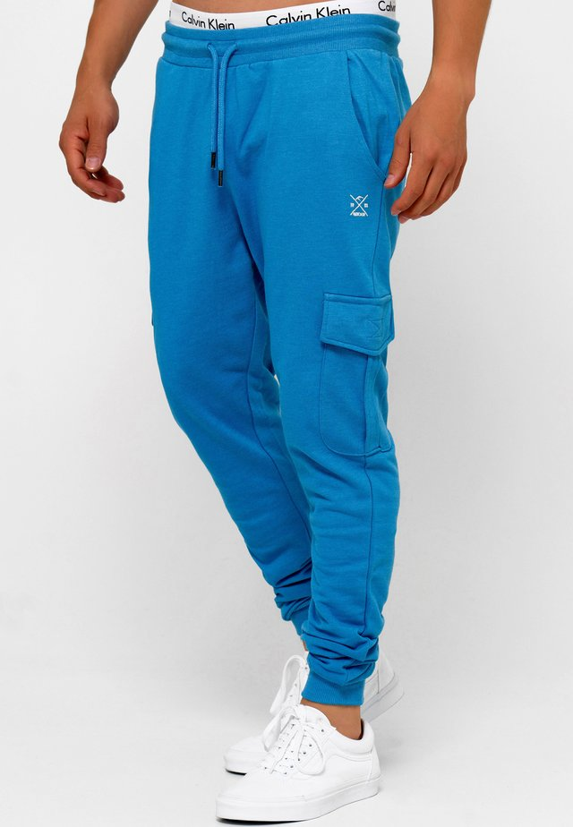 BENDNER - Pantalones cargo - clear blue mix