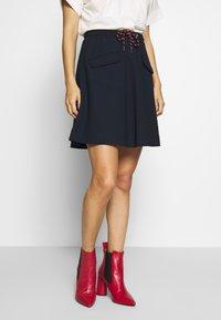 Marc O'Polo DENIM - SKIRT SHORT LENGTH FLAPPOCKETS - A-line skirt - scandinavian blue - 0
