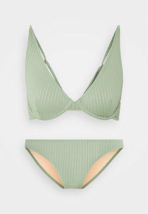 HALF WIRE BRA FULL BIKINI SET - Bikini - khaki