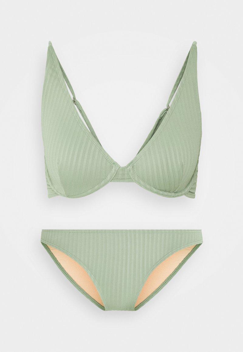 Cotton On Body - HALF WIRE BRA FULL BIKINI SET - Bikini - khaki