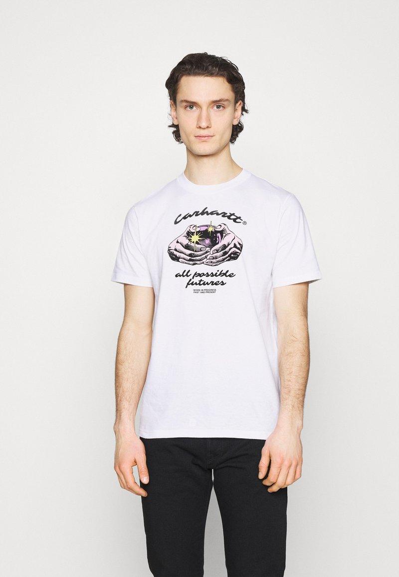 Carhartt WIP - FORTUNE - Print T-shirt - white